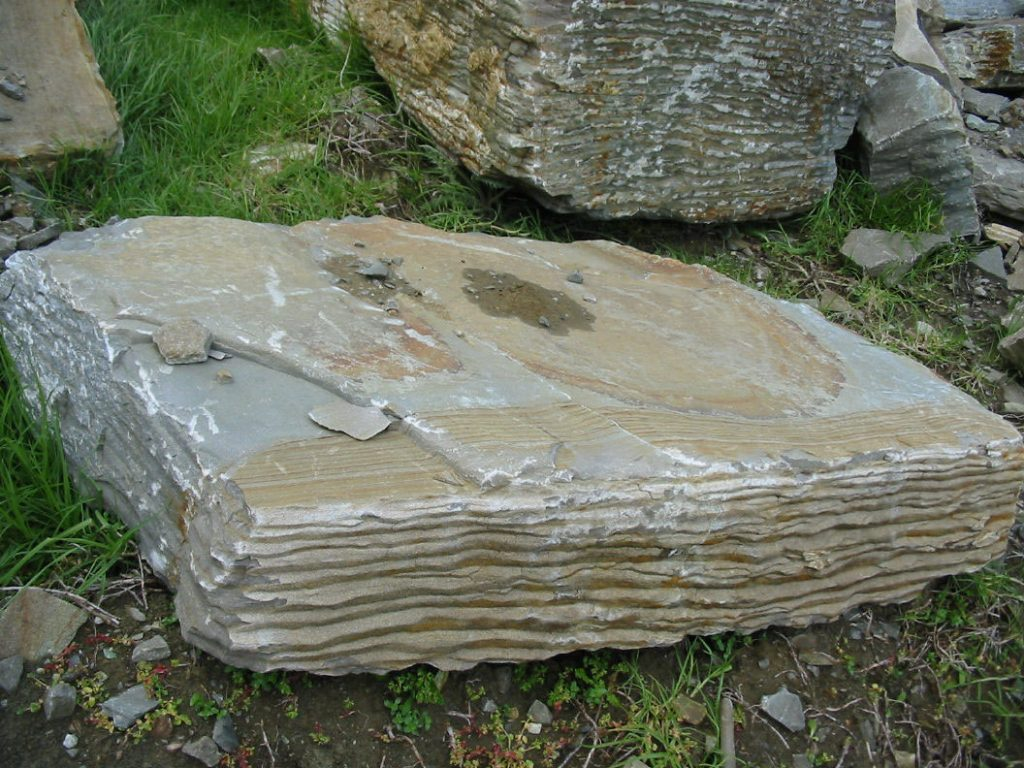 Large stone slab at Paradise Quarry