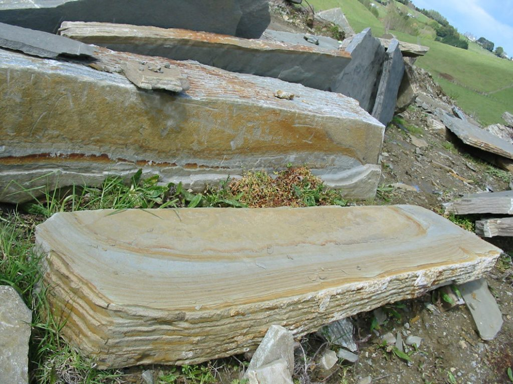 Large stone slabs at Paradise Quarry