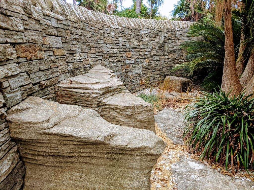 Stone walling and feature rocks