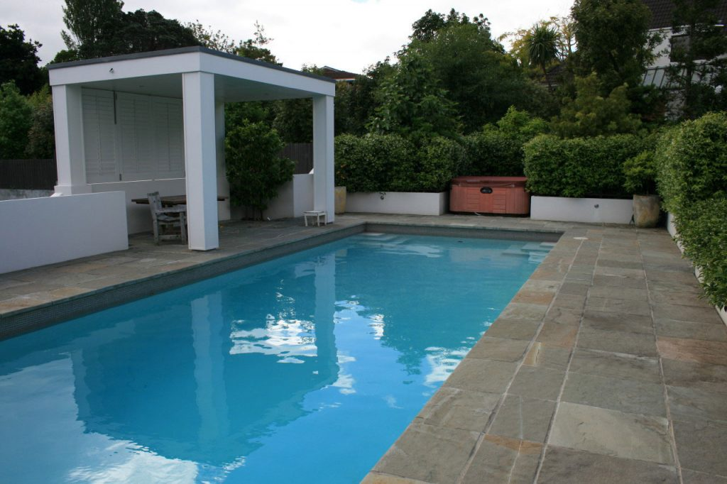 Paradise Stone Pool Paving with Coping