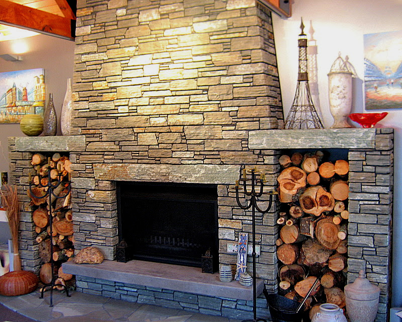 Paradise Stone used for large internal fireplace