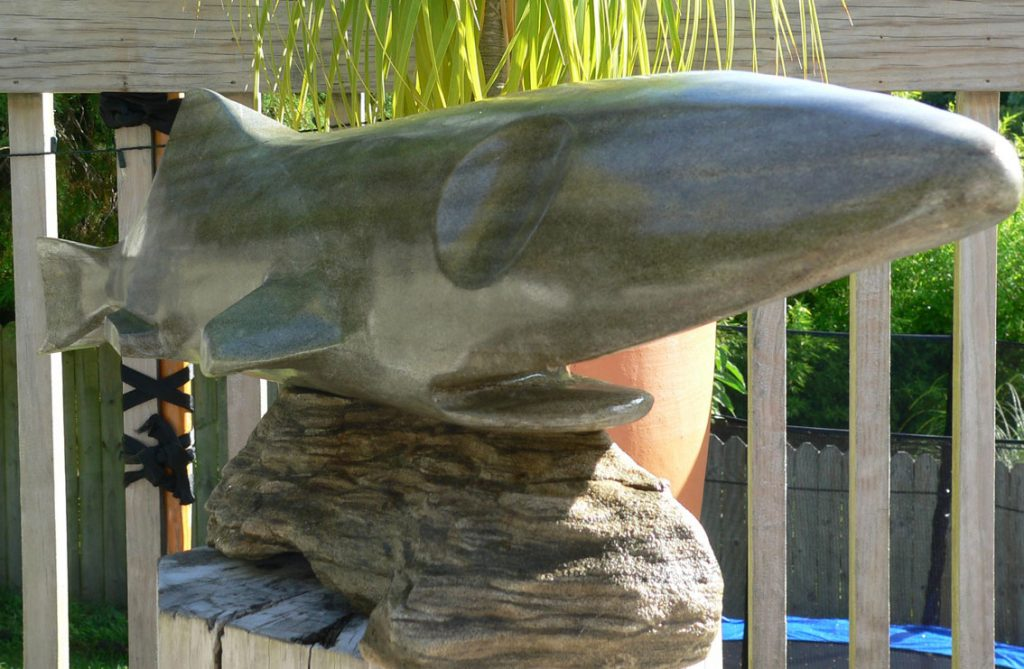 Paradise Stone Rock Fish Sculpture