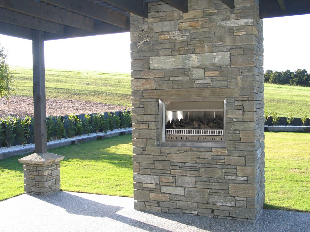 Paradise Stone Pation Fireplace